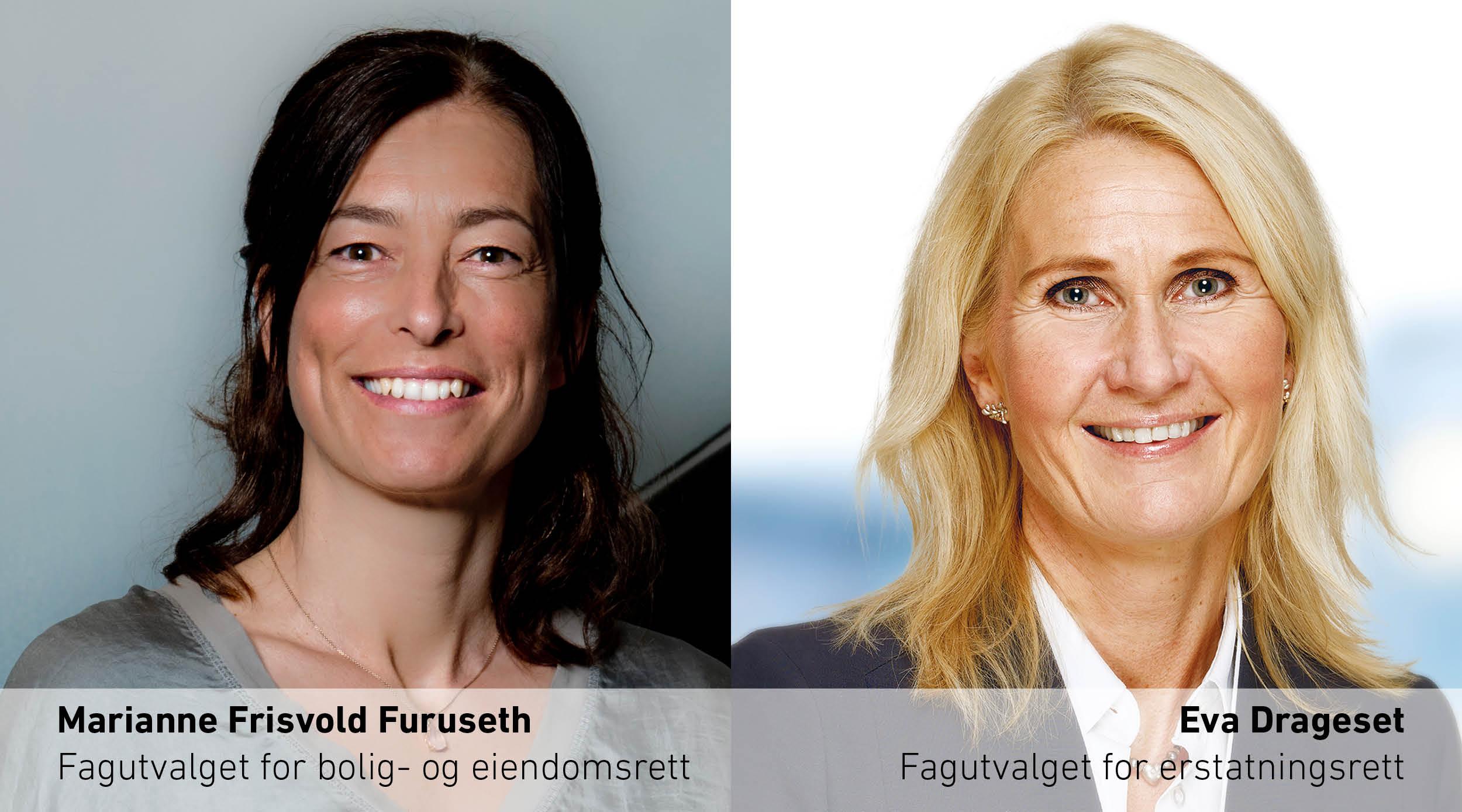 Bilde av fagutvalgsmedlemmene Marianne Furuseth og Eva Drageset